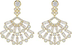 Nina - Baguette Cluster Fan Drop Earrings