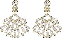 Nina Baguette Cluster Fan Drop Earrings