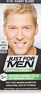 Just For Men Shampoo-In Haircolor, Sandy Blond H-10 Pack of (1)