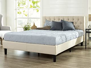 Zinus Misty Upholstered Modern Classic Tufted Platform Bed / Mattress Foundation / Easy Assembly / Strong Wood Slat Support, King