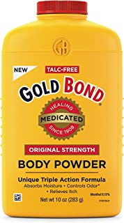 پودر بدن اصلی دارویی بدون تالک دارویی Gold Bond دارویی 10 اونس ، خنک کننده ، جذب کننده ، ضد خارش