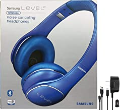 Samsung Level On Wireless Noise Canceling NFC Blue Headphones Universal Bluetooth - with Wall/Car Charger - (Renewed)