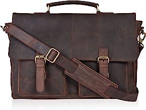 WUSHIYU Mens Messenger Bag Mens Briefcase Casual Business Multi-Function Shoulder Shoulder Diagonal Package Satchel Shoulder Bag Color : Black