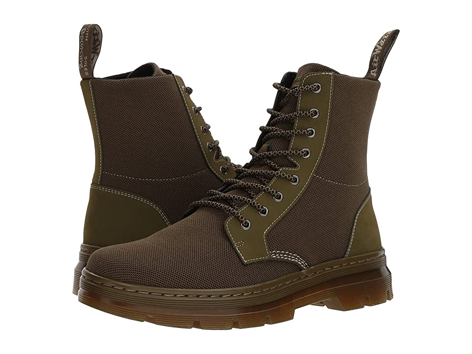 Dr. Martens Combs II (Mid Olive K Tech Knit Textile/New Olive Cascade) Boots