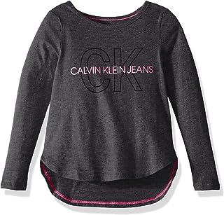 Calvin Klein Big Girls' Oversize Logo Tee