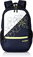 Amazon Brand - Solimo Cubes Laptop Backpack for 15.6-inch Laptops (31 litres, Blue)
