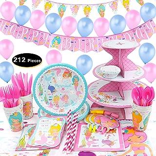 Best pink mermaid party supplies Reviews