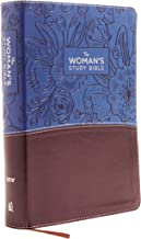 NIV, The Woman's Study Bible, Leathersoft, Blue/Brown, Full-Color, Red Letter: Receiving God's Truth for Balance, Hope, an...