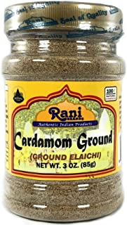 Rani Cardamom (Elachi) Ground, Powder Indian Spice 3oz (85g) ~ All Natural, No Color added, Gluten Friendly | Vegan | NON-...