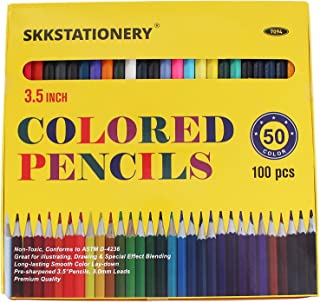 SKKSTATIONERY 100 Pcs Mini Colored Pencils, 3.5