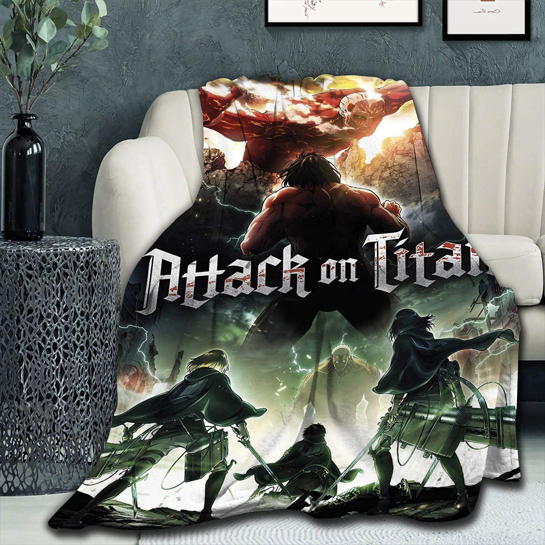 DIYHMH Phoenix Mall Anime Attack On Titan Blanket Max 80% OFF So Plush Fuzzy Micro Fluffy