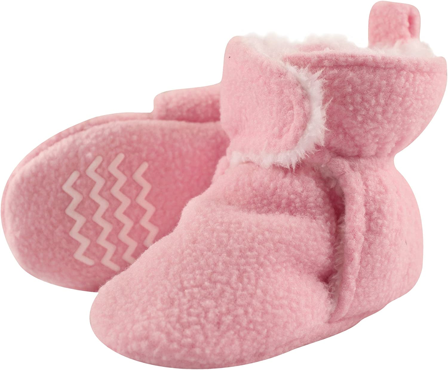 Hudson Baby Unisex Baby Cozy Fleece and Faux Sherpa Booties