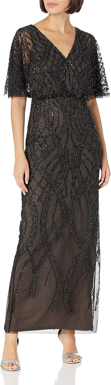 Adrianna Papell Women's Beaded Column Gown