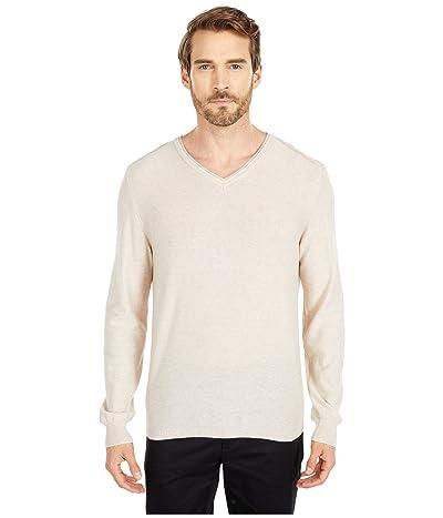 BUGATCHI Filipo Long Sleeve Sweater V-Neck (Sand) Men