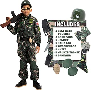 Camo Trooper Costume Outfit for kids, Halloween Dress Up, Role-Playing, and Carnival Cosplay