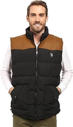 Western Yoke Puffer Vest