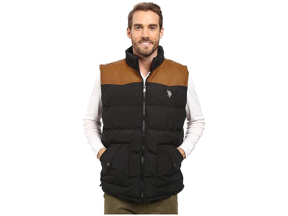 U.S. POLO ASSN. Western Yoke Puffer Vest (Black) Men