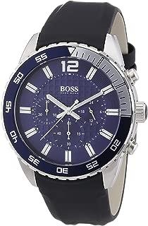 Hugo Boss Blue Dial Stainless Steel Rubber Chrono Quartz Men's Watch 1512803