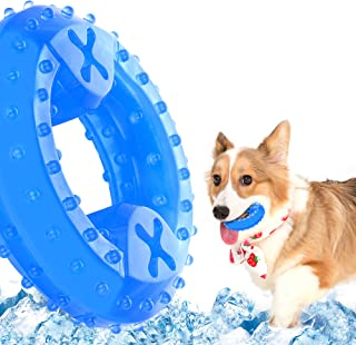 NWK Dog Chew Toy Freezable Pet Teether Cooling Toy for Puppies Durable Teeth Cleaning Bite Toy for Dogs Relieve Anxiety Fi...