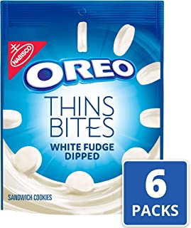 Oreo Thin Bites White Fudge Dipped Original Cookies, 6 Count