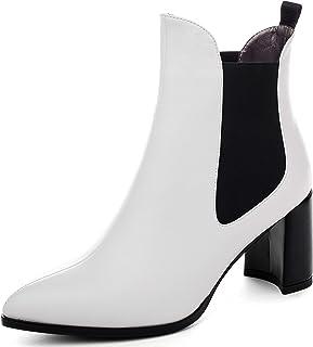 Mettesally Stivali Chelsea Donna,Stivali con Tacco a Blocco Donna,75mm Stivaletti Donna