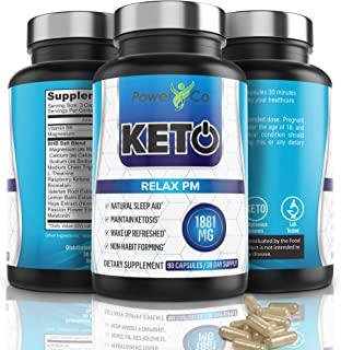 Keto PM Weight Loss Sleep Aid - Powerful Weight Loss Supplement - Get Lean and Lose Weight While Sleeping Diet Pills - 100% Natural, Awake Refreshed, Maintain Ketosis - 90 Capsules by PowerCo