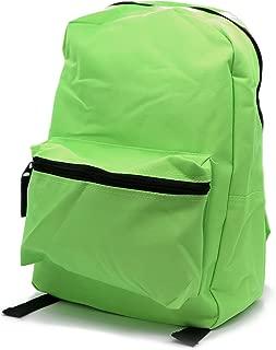 School Backpack Rucksack with Adjustable Strap Fashion Bag (Lime Green)