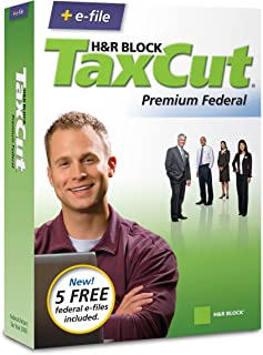 H&R Block TaxCut 2008 Premium Federal + e-file (Old Version)