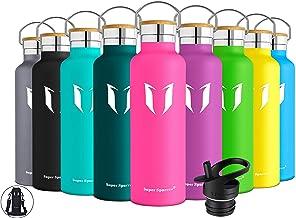 REYLEO Bouteille deau isol/ée en Acier Inoxydable avec Deux Covuercles Reutilisable /& sans BPA Garde Froid 24h ou Chaud 8h 700mL,Rouge Bouteille Isotherme avec Paille,Thermo Gourde