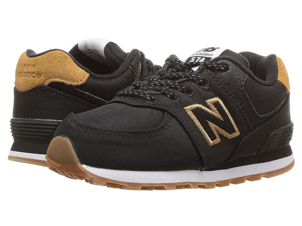 New Balance Kids IC574v1 (Infant/Toddler) (Black/Brown Sugar) Boys Shoes