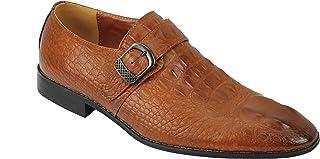 Noir Marron Faux Crocodile Imprimer Bracelet en Cuir Mocassins Formelles Intelligent Robe De Mariée Chaussures pour Hommes