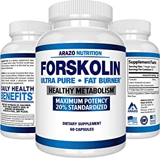 Forskolin Extract 250MG Supplement – 60 Capsules – Arazo Nutrition