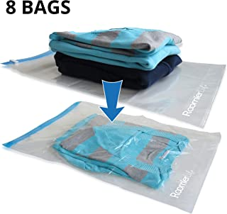 RoomierLife Travel Space Saver Bags (Medium to Large). Pack of 8 Bags. Roll-Up..