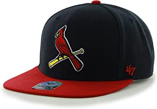 MLB St. Louis Cardinals Sure Shot Two Tone Captain Adjustable Snapback Hat, One Size, Navy