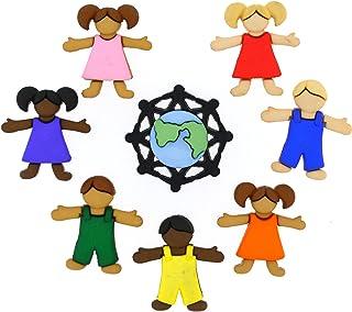 Dress It Up 8140 Buttons, Children Around The World