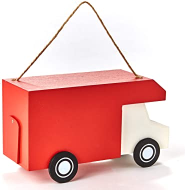 The Lakeside Collection Food Truck Birdhouse for Hanging - Garden Accent - Smokin Chicks BBQ