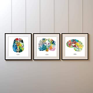 J. Sayuri Human Brain Art - Set of Three 12