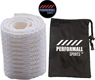 Performall Sports Sail Lacrosse Mesh Semi-Soft White and Ball Stop Bundled with 1 Pouch Bag