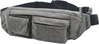 SoJourner 2-Pocket Gray Fanny Pack Hip Bag - fits men, women, kids, small, medium and large