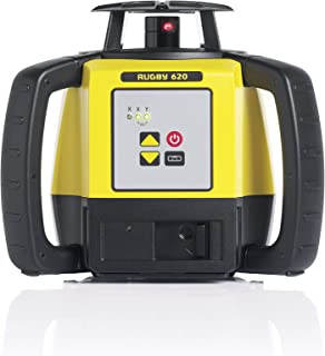 Leica R620,RE140, Alkaline Rugby 620 2600-Feet Self Leveling Horizontal and Manual Single Slope Rotary Laser Kit with Rod Eye 140 Receiver, Yellow