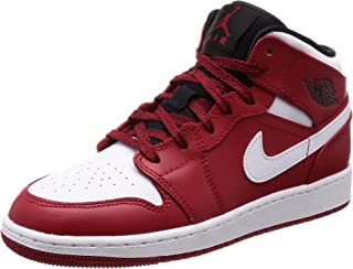 Nike Jordan Mid 1 Gym Red/White-Black (Big Kid) (6.5 Youth)