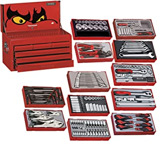 Teng Tools 184 Piece Complete Mixed Service Tool Kit With Free Heavy Duty Toolbox Storage Case (Mega Bundle 1) - TC806SV-KIT1