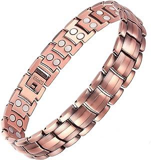 Mens Magnetic Therapy Bracelets Elegant 99.95% Pure Copper Bracelets for Men Arthritis Pain Relief Strong Magnetic Bracelet,B