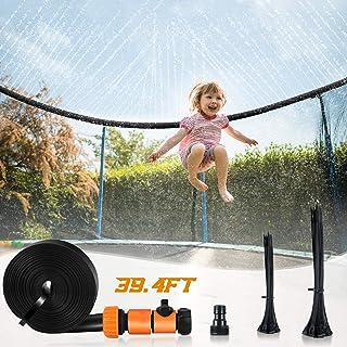 AGPTEK Studsmatta sprinkler, vattenpark sprinkler för barn vatten trampolin lek för sommaren utomhus vatten rolig spruta (...