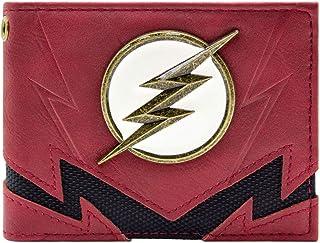 Cartera de Flash The Fastest Man Alive Gold Badge Rojo