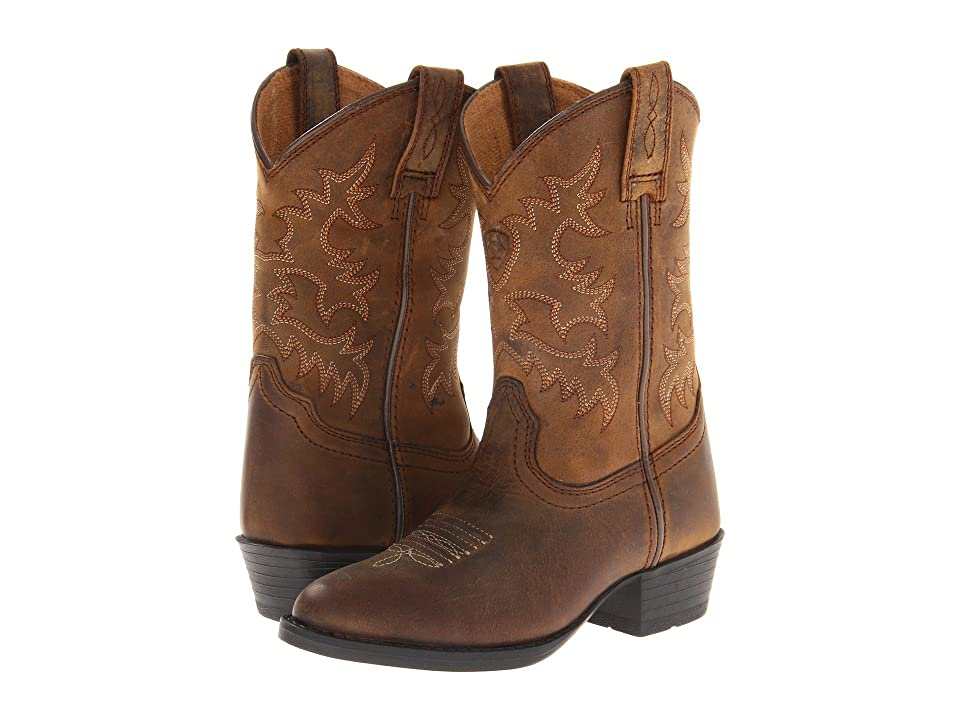 Ariat Kids Heritage Western (Toddler/Little Kid/Big Kid) (Distressed Brown) Cowboy Boots