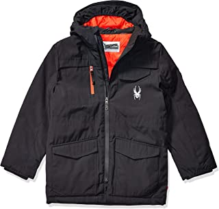Spyder Boys' Big Midweight Water Resistant Hooded Parka