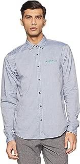 Mens Regular Fit Classic Shirt w/Chest Pocket, Fixed Pocket Square