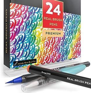 Arteza Real BrUSh Pens - 24-Colors - Watercolor Markers - (Set Of 24)