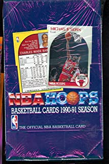 1990-91 Hoops Basketball Wax Pack Box Series 1 One NBA Card Set 1991